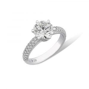 แหวนเพชรแต่งงาน, แหวนหมั้น, แหวนเพชรเม็ดเดี่ยว